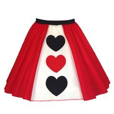 Queen of Hearts Costume Skirt – inspiredcostume.com