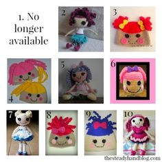 10 FREE Lalaloopsy-Inspired Crochet Patterns - thesteadyhandblog