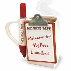 Let your friends know they're annoying you by adding their name to your #ShitListMug! Another hilarious gag gift from #BigMouthToys!