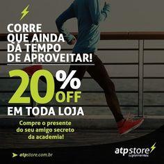 Não vai perder né? Corre.. suplementos com 20% de desconto ?? só na #ATPStore Acesse: www.atpstore.com.br