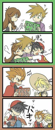 Lol red is such a savage Pokemon Manga, Old Pokemon, Green Pokemon, Pokemon Ships, Pokemon Comics, Pokemon Memes, Pokemon Funny, Poker, Pokemon Adventures Manga