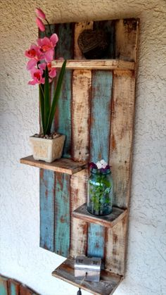Pallet Shelves Projects Creative DIY Furniture Projects You Can Do For Your Home Wall Pallet Shelve Pallet Patio Furniture, Furniture Projects, Diy Furniture, Bedroom Furniture, Furniture Design, Simple Furniture, Garden Furniture, Furniture Online, Furniture Making