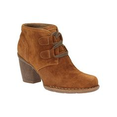 Clarks Tan Suede Carleta Lyon Ankle Boot  My latest bootie :)