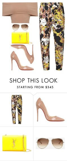 """Season of Prints"" by kimeechanga ❤ liked on Polyvore featuring Zero + Maria Cornejo, Christian Louboutin, Yves Saint Laurent and Chloé"