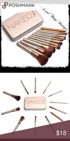 12pc Naked3 Makeup Set 12pcs/set NAKED3 Power Brush URBAN Makeup Brushes Nake 3 Professional Make Up Brush kit Maquiagem Beauty eye Face Tool Metal Box Makeup Brushes & Tools