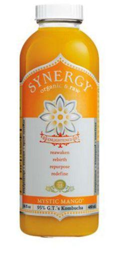 GT'S ENLIGHTENED KOMBUCHA: Synergy Organic and Raw Kombucha Mystic Mango, 16 Oz