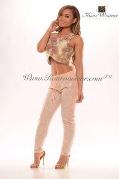 Joeseline sequined pants (dusty pink)