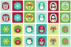 Printable Christmas Memory Game, Cute Christmas Trees, Too