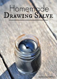 The Herbal Medicine Cabinet: Drawing Salve.  Perfect to have on hand for bug bites, bee stings, boils, splinter removal and acne!