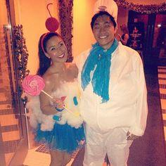 Cupcake and Pillsbury Doughboy #Halloween couples costume