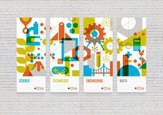Bold environmental and print graphics for WaStem by the Seattle-based Mint.