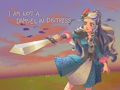 I'm not a damsel in distress Ever after high -. Ever After High, Darling Charming, Raven Queen, Damsel In Distress, Bear Wallpaper, Cool Sketches, High Art, Anime, Disney Art