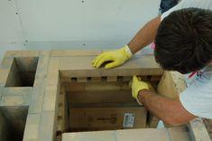 Experimental masonry hydronic heating workshop Wood Stove Heater, Hydronic Heating, Rocket Stoves, Oven, Patio, Workshop, Warming Up, Log Burner, Brick Ovens