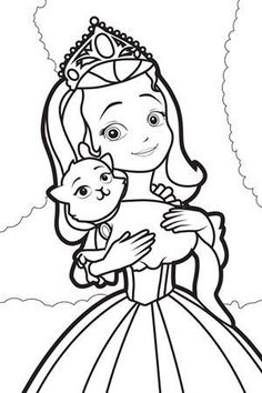 Sofia the First coloring picture Coloring Pages 2 Pinterest