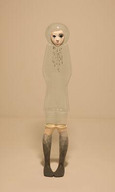 Korean artist jin young yu: life-size sculpture