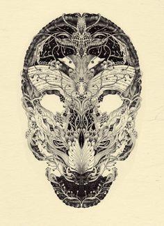 http://www.thisiscolossal.com/wp-content/uploads/2012/01/Anacridium_skull-etude-no1-600x825.jpg