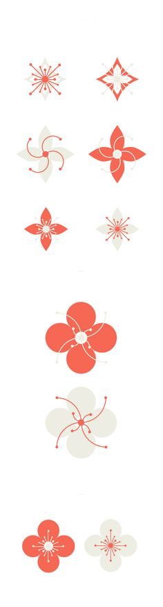 Chinese New Year Pt. I - design elements by Cynthia Mergel, via Behance Floral Illustration, Graphic Design Illustration, Chinese Design, Japanese Design, Icon Design, My Design, Logo Design, Chinese New Year Card, Chinese Festival