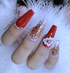 25 pretty acrylic coffin nails design you need to try 9 Fabulous Nails, Perfect Nails, Gorgeous Nails, Pretty Nails, Red Acrylic Nails, Summer Acrylic Nails, Acrylic Nail Designs, Aycrlic Nails, Swag Nails