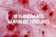 18 Handmade Marbled Textures by aurpera on @creativemarket