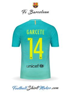 Camiseta FC Barcelona 2016/2017 Tercero Garcete 14