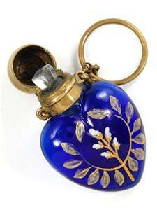 Floral Cobalt Blue Glass w/Chatelain Ring♥♥ Blue Perfume, Antique Perfume Bottles, Vintage Bottles, Perfumes Vintage, Bleu Cobalt, Bleu Indigo, Cobalt Glass, Beautiful Perfume, Bottle Vase