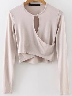 17$  Buy here - http://dihwd.justgood.pw/go.php?t=8372 - Apricot Keyhole Wrap Crop Top 17$