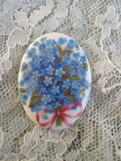 Pretty Little Forget Me Not Flowers on Fine by mosaicsbyshell, $3.25