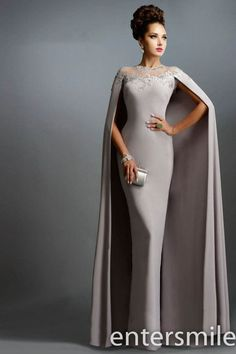 Mermaid Mother of The Bride Dresses with Cape 2015 Long Formal Evening Gowns | eBay