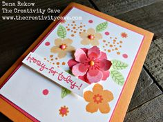 Great video tutorial for making this beautiful card and some great tips on creating cards using Stampin Up
