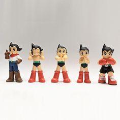 "Astro Boy 3"" Mini Figures (OG Colorway) Full Boxed Set of 5 Astroboy Figures Vinyl Toys, Vinyl Art, Astro Boy, The Dj, Designer Toys, Custom Vinyl, Resin Art, Boxer, Mickey Mouse"