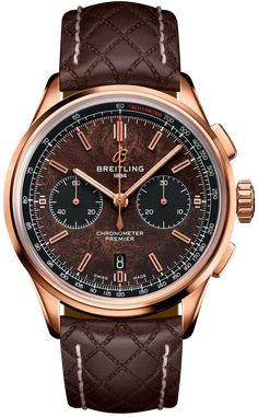 Discover the Breitling Premier Chronograph 42 Bentley Centenary Limited Edition in a combination of Red gold, Brown and Brown Leather. Breitling Superocean Heritage, Breitling Navitimer, Dream Watches, Cool Watches, Rolex Watches, Nixon Watches, Fancy Watches, Casual Watches, Sport Watches