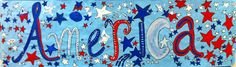 Fro the Grade Music Show, our graders made artwork for the stage with tempera. I penciled in the letters and the kiddos did the . 2nd Grade Music, Blue Pictures, Tempera, Veterans Day, Fireworks, Kindergarten, Celebration, Palette, Flag