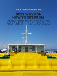 Best ways to get from Split to Hvar in Croatia #croatia #islandhopping #split #hvar Europe Destinations, Europe Travel Tips, Amazing Destinations, Asia Travel, Travel Guides, Visit Croatia, Croatia Travel, European Vacation, European Travel