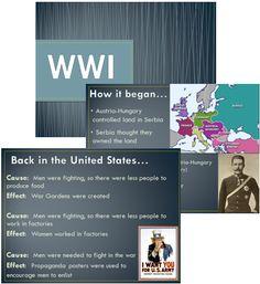 Social Studies PowerPoint Lesson on World War I. (5th Grade Georgia)
