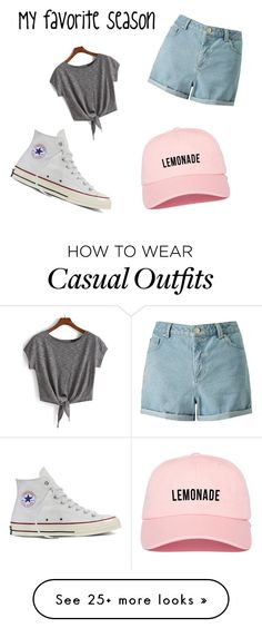 """""""Casual summer"""" by avalouise727 on Polyvore featuring Miss Selfridge and Converse"""