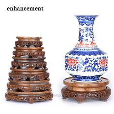 Pierced Ebony Antique Vase Base Wood Craft Home Accessories Aquarium Vase Seat Decoration Crafts Bas - ICON2 Luxury Designer Fixures #Pierced #Ebony #Antique #Vase #Base #Wood #Craft #Home #Accessories #Aquarium #Vase #Seat #Decoration #Crafts #Bas