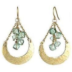 Crescent florite earrings