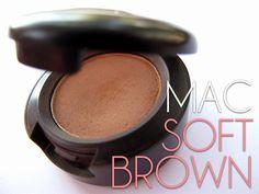 For subtle look that enhances the eyes: all over wash of MAC 'Orb' up to browbone, MAC 'Soft Brown' in crease, MAC 'Dipdown Brown' gel liner OR Bobbi Brown's 'Chocolate Shimmer Ink' gel liner)