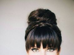 i really want bangs ): These are the moments when I wish my hair wasn't so curly.