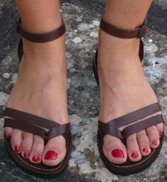 SALE / Woman Sandals Leather Sandals Womens by SandaliShop Cute Sandals, Strappy Sandals, Gladiator Sandals, Leather Sandals, Gladiators, Fab Shoes, Shoes Heels, Flats, Bohemian Sandals