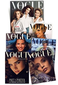 Ford models on the cover of Vogue Paris