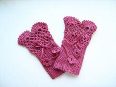 Fingerless gloves Crochet lace fingerless gloves by NMNHANDMADE, $29.00