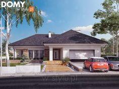 Aksamit 8 projekt domu - Jesteśmy AUTOREM - DOMY w Stylu Bungalow House Design, Modern House Design, My House Plans, Concept Home, Facade House, Modern Exterior, Home Remodeling, New Homes, Floor Plans