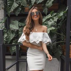 white off shoulder short homecoming dress - Dress For You, Vestidos Color Blanco, Pretty Outfits, Cute Outfits, White Off Shoulder, Off Shoulder Blouse, Fashion Outfits, Womens Fashion, Homecoming Dresses