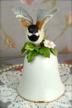 Beautiful Black-Capped Chickadee Audubon by HappyGalsVintage