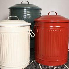 Rideau cuisine store rouge d co campagne cuisine d co et ps - Petite poubelle de cuisine ...