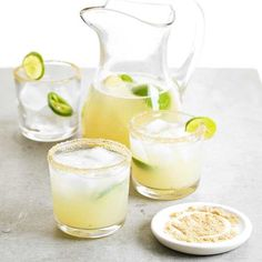 Skip the soda and serve your guests these Honey-Ginger Limeade mocktails! More of our best mocktail recipes: http://www.bhg.com/recipes/drinks/wine-cocktails/mocktails/?socsrc=bhgpin081213honeygingerlimeade=1