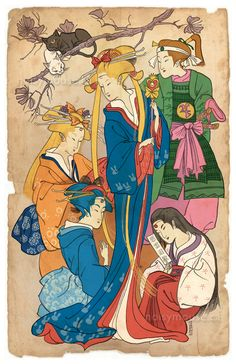 Sailor Moon, ukiyo-e style Prints available here. [[MORE]]Next project completed: the Sailor Scouts done in the style of traditional Japanese woodblock prints! (circa late 1700s) I had already...