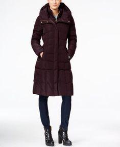 Cole Haan Hooded Long Down Puffer Coat with Vestee  | macys.com