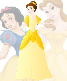 disney fusion: Belle and Snow White by Willemijn1991.deviantart.com on @DeviantArt